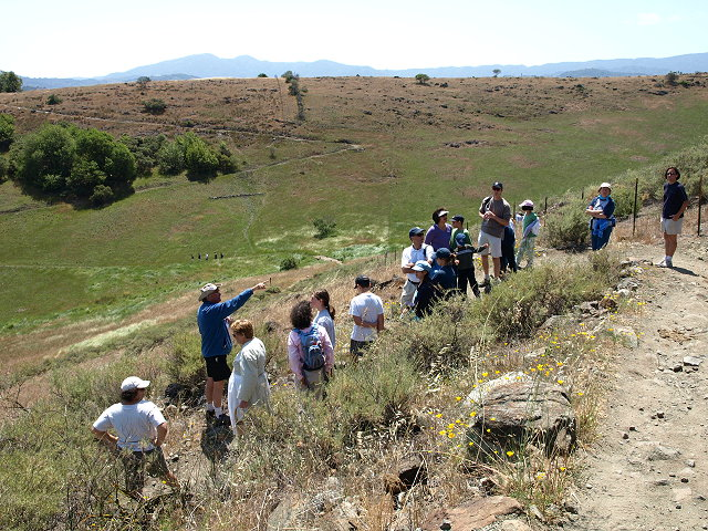 Mike Boulland leading hike on the Stile Ranch Trail, Santa Teresa Park