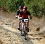 Mountain bikers coming down Rocky Ridge Trail