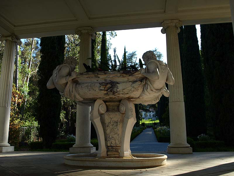 Satyr sculptures in the Love Temple, Montalvo Arts Center