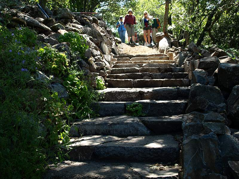 Stone staircase, Mummy Mountain Trail, Coyote Lake